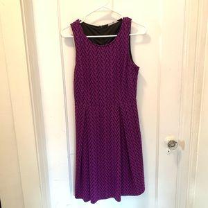 41 Hawthorn Purple Chevron Dress Small